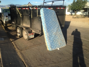 twin mattress removal