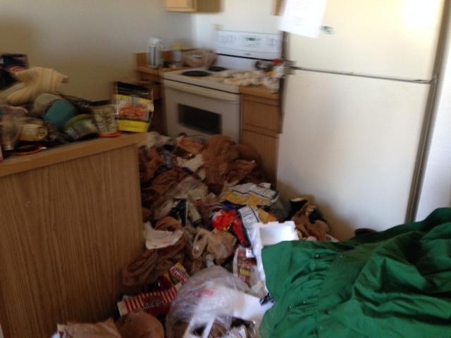 kitchen apartment junk